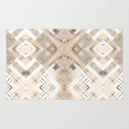 Beige abstract pattern . Rug