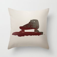 Bloody Skating - The Race is Over Throw Pillow