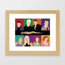 Buffy the vampire slayer characters Framed Art Print