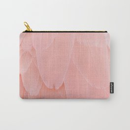 Pink Scandi Feathers Carry-All Pouch