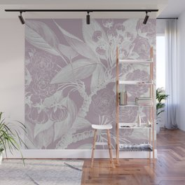 French Country Roses Floral, Dusky Pink Wall Mural