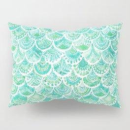 VENUS DE MER Aqua Mermaid Scales Pillow Sham