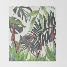 Watercolor Plants II Throw Blanket