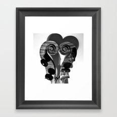 VIOLA HEART Framed Art Print