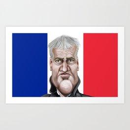 Didier Deschamps World Cup 2014 Art Print