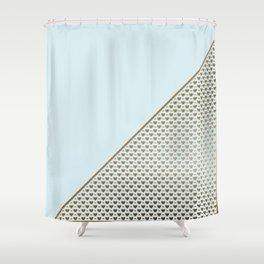 Heartless 2 - Aqua + Brass Shower Curtain