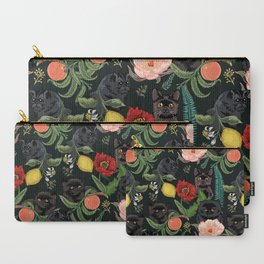 Botanical and Black Cats Carry-All Pouch