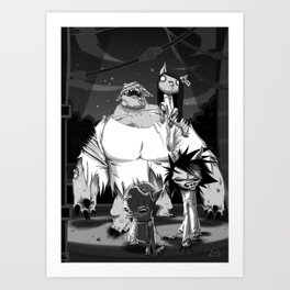 Zombikats Art Print