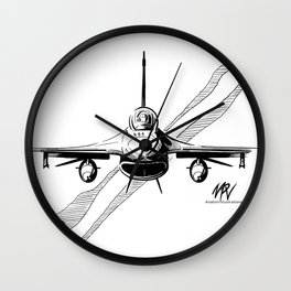F-16 Viper Head On Wall Clock