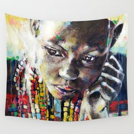 Reverie - Ethnic African portrait Wall Tapestry