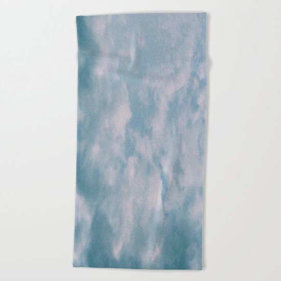 Fluffy Blue Clouds Beach Towel