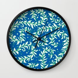 Lacy Leaves Wall Clock