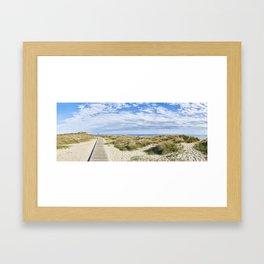 Boardwalk to Hengistbury Head Framed Art Print