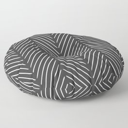 Diagonal Mudcloth Gray Floor Pillow