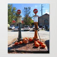Pumpkin Gas Canvas Print
