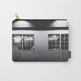 windows of the bar and restaurant in Los Angeles, USA in black and white Carry-All Pouch