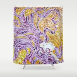 Swirling LADY Shower Curtain