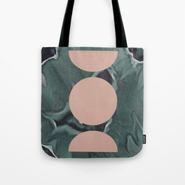 Moon Cycles on Agate Tote Bag