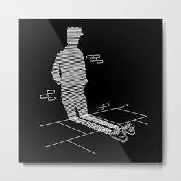 Shadow Cast (black) Metal Print