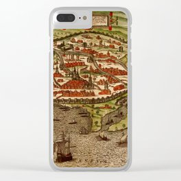 Map Of Alexandria 1575 Clear iPhone Case