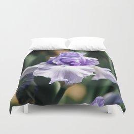 Lavender Iris Duvet Cover