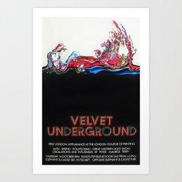 1969 Velvet Underground first British Concert Gig Vintage Poster Advertisement Art Print