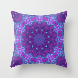 Pink, Purple, and Blue Kaleidoscope Throw Pillow