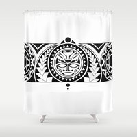 maori Shower Curtains featuring Maori by Reiv