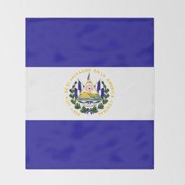 El Salvador flag emblem Throw Blanket