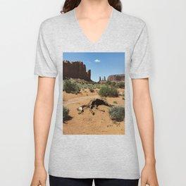 Monument Valley Horse Carcass Unisex V-Neck