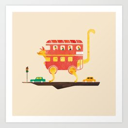 PICADILLY CAT  Art Print