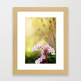 Konichiwa Flower Framed Art Print