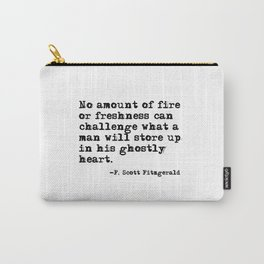 His ghostly heart - Fitzgerald quote Carry-All Pouch