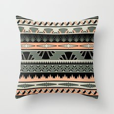 art deco stripes - salmon Throw Pillow