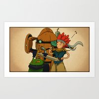 chrono trigger Art Prints featuring Chrono Trigger Tribute  by poizeh