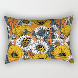 The meadow in yellow and orange Rectangular Pillow