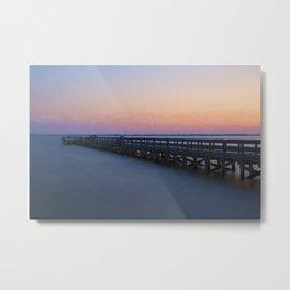 Hilton Pier at Sunset Metal Print