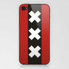 amsterdam city flag netherlands country symbol iPhone & iPod Skin