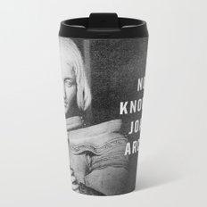 Joan of Arc Metal Travel Mug