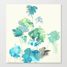 Tropical Leaves Collab. Dylan Silva Canvas Print