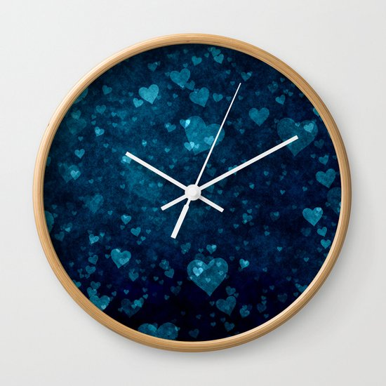 Blue Love Wall Clock