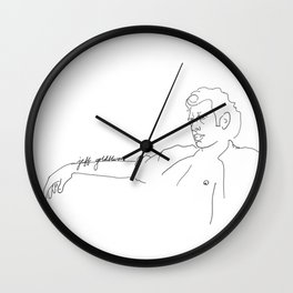 Jeff Goldblum, With Text Wall Clock