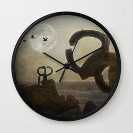 Peine del Viento (Eduardo Chillida) Wall Clock