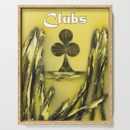 Clubs Suit Serving Tray