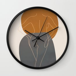 Line Female Figure 82 Wall Clock
