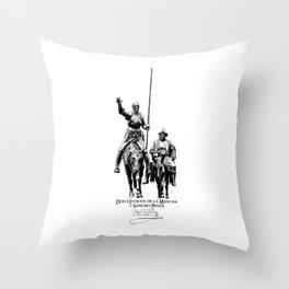 Don Quixote de la Mancha y Sancho Panza-Cervantes-Spain-Literature-Chivalry, Knighthood Throw Pillow