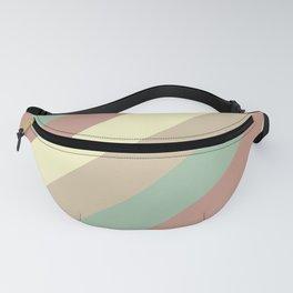 Natural Diagonal Stripe Pattern Fanny Pack