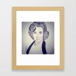 Elizabeth Taylor Framed Art Print