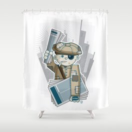 Big City Paperboy Shower Curtain