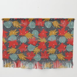 Falling red leaves Wall Hanging